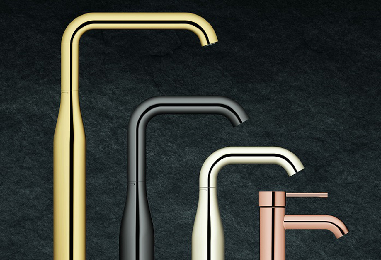 grohe-essence-gold-copper-taps-brassware